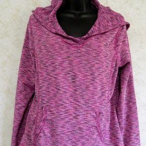 Tangerine Fleece Lined Pullover Hoodie Purple XL